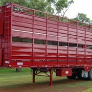 Steel Sided Road Train Trailer | Two Deck Stock Crate