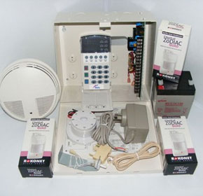Reliance 8 Security System - 3 Zodiac Quad PIR's & 1 Smoke Detector