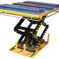 Scissor Lift with Red Eye Sensor