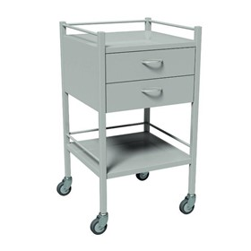 2 Drawer Powder Coated Instrument Trolleys | AX 327