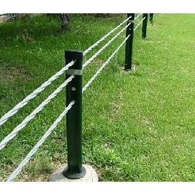Wire Rope Safety Barrier - Flexfence 3 Rope TL4