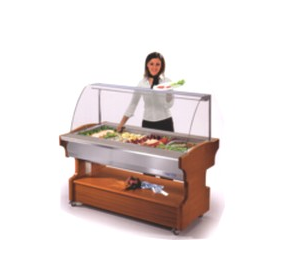 Salad bars of various sizes & finishes