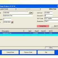 Purchase Orders by Departments Software Utility
