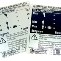 Australian Builder's Plates for Boats