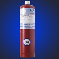 34DS - 34 Litre Steel Non-Refillable Cylinder