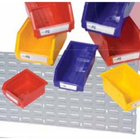 Louvred Panel & Storage Bins