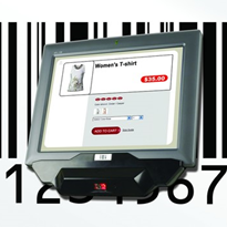 LCD Panel PC with Barcode Scanner | AFL2D-12BS-LXPOS 12.1""