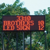 LED Displays /Electronic Scoreboards for Outdoor Scoreboard Displays