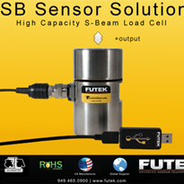 FUTEK high capacity load cell offered with USB output option