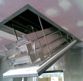 Roof Access - Fire-rated pull-down access ladder