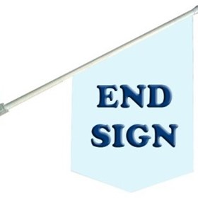 End Sign Banner - End Sign Flags