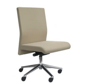 Leather Office Chairs - Medium Back With No Arms - Bella