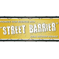Street Barriers / Cafe Barriers - Banner Laced To Frame