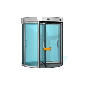 Glass Door - Revolving door