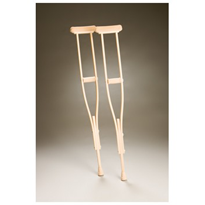 Timber Adjustable Crutches