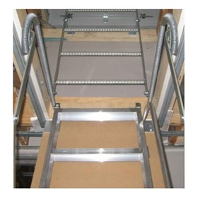 AM-BOSS Pull-down Access Ladder With Steel Vertical Ceiling Space Ladder