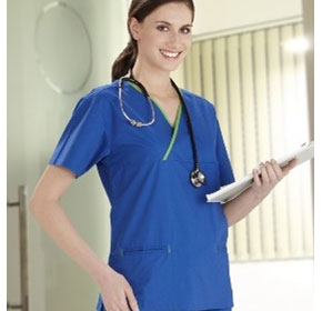 Medical Scrubs - Ladies Crossover Top
