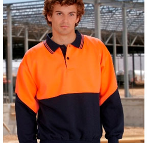 Workwear | Long Sleeve Fluoro Fleece Contrast Top