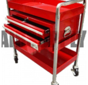 Service Cart - 2 Tray 2 Locking Drawer - 160kg Load