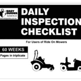 Outdoor Maintenance | Daily Inspection Checklist for Ride On Mowers
