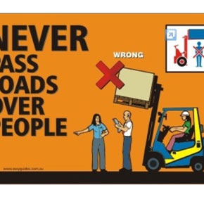 Safety Posters | Never Pass Loads Over People