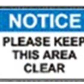 School Sign | 'Please keep this area clear'