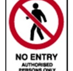 Prohibition Sign | 'Authorised personnel only'