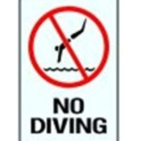 Swimming Sign | 'No Diving'