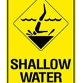 Swimming Sign | 'Shallow Water'