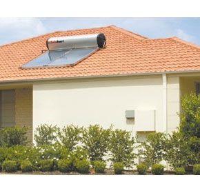 Solar Hot Water Heating | Thermosiphon Roof Mounted Systems
