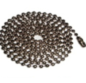 Badge Chains | Nickel Plated Ball Chain