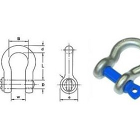 Screw Pin Bow Shackle | Nobles Grade S