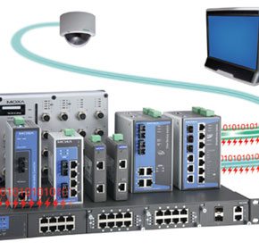 Moxa PoE+ Industrial Ethernet Switches for Completing One-stop Shop PoE Solutions