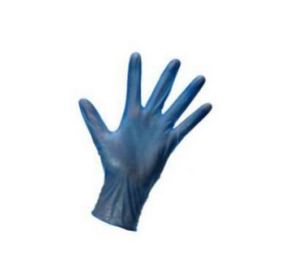 Vinyl Gloves Powdered (Blue)