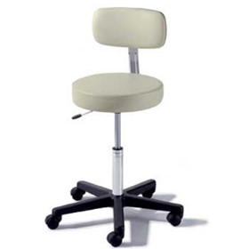 Air Lift Hospital Stool With Back - Midmark/Ritter 273