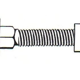 Carriage Bolts | Metric M8 x 20mm | Zinc Plated