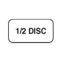1/2 Disc Label