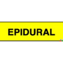 Anaesthesia Drug Identification Labels - Epidural