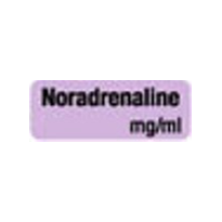 Anaesthesia Drug Identification Labels - NORADRENALINE
