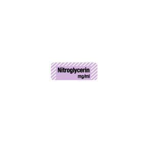 Anaesthesia Drug Identification Labels - NITROGLYCERIN