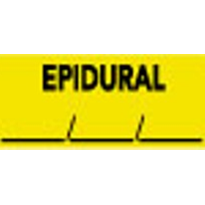 Anaesthesia Drug Identification Labels - EPIDURAL/DATE