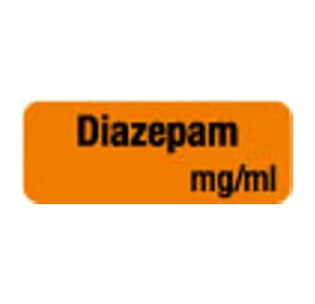 Anaesthesia Drug Identification Labels - DIAZEPAM