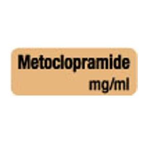 Anaesthesia Drug Identification Labels - METOCLOPRAMIDE
