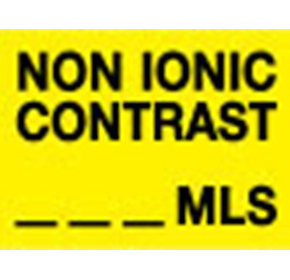 Pathology Labels - Non ionic contrast