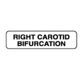 Radiology Labels - Right Carotid Bifurcation