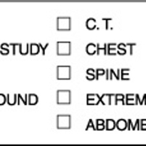 Radiology Labels - Envelope I.D.