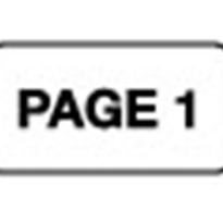 Page Numbering Labels - Page 1