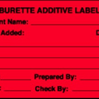 Burette Additive Labels