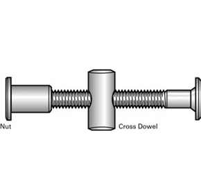 Joint Connector Bolts with Barrel Nuts in 304 Stainless Steel
