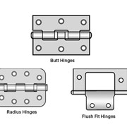Butt, Radius,Flush Fit, Strap and Tee Hinges